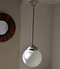 GRAND PLAFONNIER GLOBE VERRE 1930 LUMINAIRE LAMPE ART DECO SUSPENSION