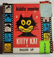FELIX KITTY KAT in BALLED UP SUPER 8mm FILM w/ OG BOX-ATLAS-50' KIDDIE MOVIES