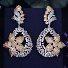 Beautiful Zirconia Silver Gold American Stones Cocktail Party Earring Jewellery