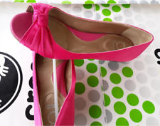 """YOU BY CROCS """"TAMILITA"""" SATEEN LEATHER OPEN TOE SLIP ON SHOE~Pink~W 7.5~NEW"""