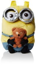 OFFICIAL DESPICABLE ME MINIONS BOB WITH BEAR PLUSH 3D BACKPACK RUCKSACK