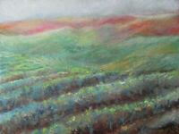 Napa Vineyards California Fall Landscape Original Oil Painting Signed