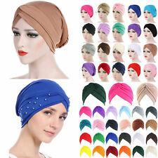 Women Stretchy Cancer Chemo Cap Headwear Ladies Muslim Turban Stretch Head Scarf