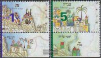 Israel 1501-1502 mit Tab (kompl.Ausg.) postfrisch 1999 Leben in Eretz-Isreal