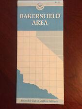 AAA Map 1994 Bakersfield Area CA Edison Kern City Oil Center Rio Bravo Mayfair..