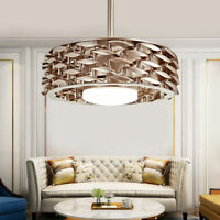 22-Inch Modern Bladeless LED Chandelier Lamp Dimmable Ceiling Fan Light + Remote