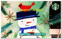 STARBUCKS 2017 CHRISTMAS HOLIDAY XMAS SNOWMAN WITH COFFEE COLLECTIBLE GIFT CARD