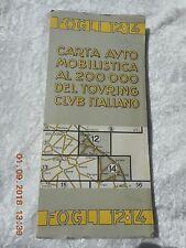TOURING CLUB  ITALIANO MAP, FOGLI 12/14