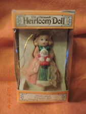 Jasco Lil Chimers Heirloom Doll Porcelain Bell Hanging Tree Ornament in box 382