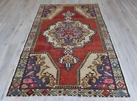 5x8 ft,Turkish Rug,Oushak Rug,Anatolian Medallion Design Rug,Medium Area Rug,Old