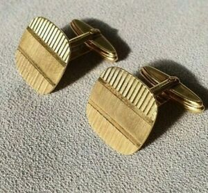 9ct gold Lovely cufflinks 6.48g classic design used