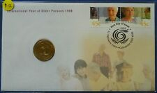 1999 Australia $1 International Year of the Older Persons Stamp & Coin PNC