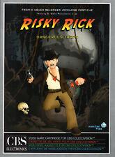 RISKY RICK for Colecovision / ADAM Cartridge.  NEW / CIB - NO SGM needed
