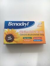 14 x Benadryl One A Day Allergy Tablets - hayfever dust pet allergy relief