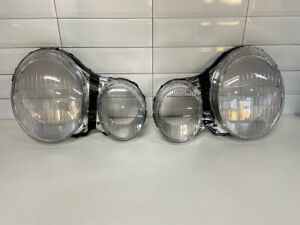 For Mercedes Benz E W210 1995-1999 Headlight Lens Replacement Cover LEFT+RIGHT