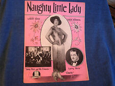 Naughty Little Lady/Larry Rich Orchestra & Cherie Cover Photos/1929 Cheesecake