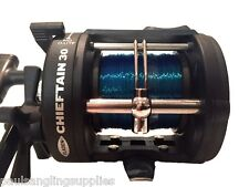 Fladen Chieftain Boat Fishing multiplier Trolling Reel with 30Lb Line Fitted