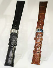 Leather watch strap Deployment clasp Add strap tool and pins for £1 Smartwatches