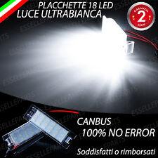 COPPIA PLACCHETTE 18 LED LUCI TARGA CANBUS MITO GIULIETTA GRANDE PUNTO EVO
