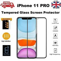 Bubble Free Full Glue Screen Protector Glass Film For Apple iPhone 11 Pro Black