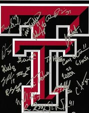 Texas Tech Red Raiders baseball Signed Autograph 2018 CWS Omaha COA LOOK!!