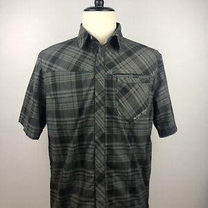 NWT Mens Yeti Cycles Granite Jersey Shirt Plaid Snap Button Size Medium