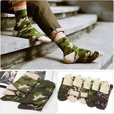 Camo 2 Pairs Men's 100% Cotton Socks Winter Autumn Warm Soft Hosiery Sock New
