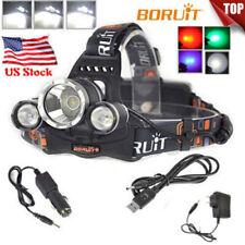 200000LM 3XXM-L L2 LED Headlamp Rechargeable Flashlight USB Head Light 18650 Kit