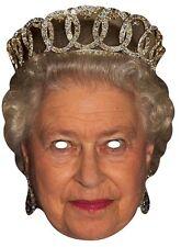 Queen Elizabeth II Royal Single CARD Fun Party Face Mask. Monarch Highness 90th
