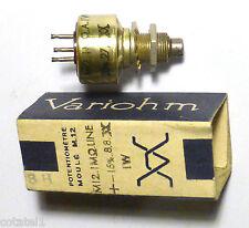 Potentiomètre ajustable 1 Mohm. 1 watt Linéarité 20% Variohm