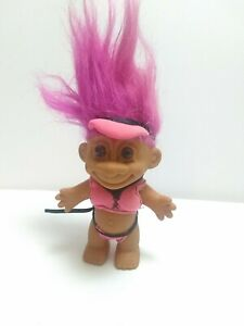 "BIKINI VOLLEYBALL PLAYER - 5"" Russ Troll Doll - Pink hair."