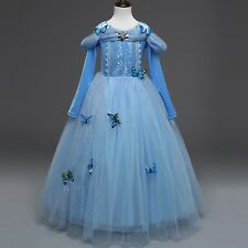 Kid Cinderella Dress Sequined Princess Fancy Clothes Costume For Cosplay Party