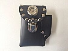 Genuine black leather cigarette case belt attachment lighter holder made USA