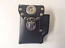 Genuine black leather cigarette case belt attachment lighter holder made USA