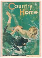 The Country Home Magazine August 1932 Olympics Scottish Terrier Swimming Dog