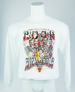 Vintage Chicago Bulls 1991 NBA Finals Champions Caricature Crewneck Sweatshirt