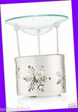 Bath & Body Works Silver Metal Glass SNOWFLAKES Fragrance OIL WARMER