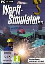 PC Computer Spiel ***** Werft-Simulator 2013 * Simulation Schiff Boot ***NEU*NEW