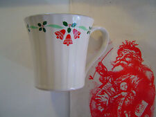 Nikko Perception Christmas Cup Bells and Holly Stoneware Japan