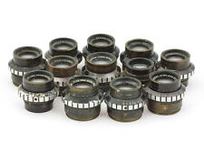 12 pieces Dallmeyer Rareac 1.9/25.5 mm Lenses with iris