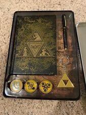 Legend Of Zelda Rare Notebook Tin Pins Pen Keychain Book Nintendo Link Triforce