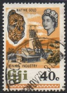 Fiji 1969 Local Motifs 40c Native Gold Mining Industry Superb USED Stamp