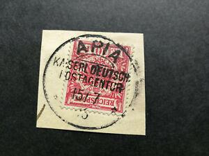 German Samoa,letter piece Apia