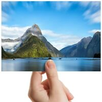"Milford Sound Zealand Island Small Photograph 6""x4"" Art Print Photo Gift #12612"