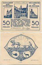 Hagenberg bei Freistadt, 1 Schein Notgeld 1920, Bauer Pflug, Fisch, Österreich