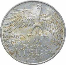 SILVER - WORLD Coin - 1972 Germany 10 Mark - World Silver Coin *525