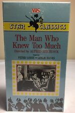 The Man Who Knew Too Much 1934 VHS Star Classics Alfred Hitchcock