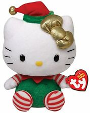 """TY ** HELLO KITTY ** Green Christmas Outfit 6"""" Tall Approx"""