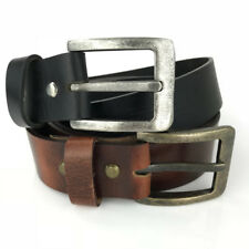 New Quality Genuine Full Grain Leather Classic Mens Jeans Belt Aussie Seller