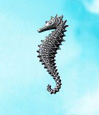 Wonderful STERLING 925 SEAHORSE Marcasites Brooch Pin